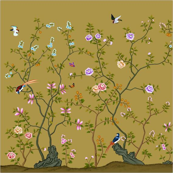3D flower Tree Bird decals Wallpaper AJ Wallpaper 1