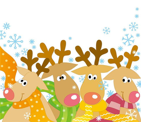 3D Christmas Deers 575 Wallpaper AJ Wallpapers
