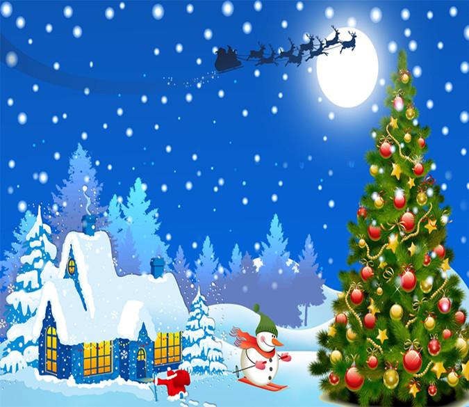 3D Christmas Tree And Christmas Night 6 Wallpaper AJ Wallpaper
