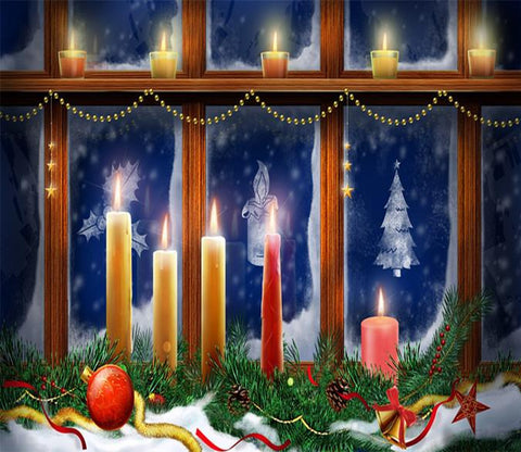 3D Christmas Candle 767 Wallpaper AJ Wallpaper