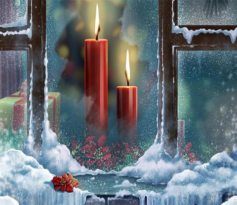 3D Christmas Candlelight 789 Wallpaper AJ Wallpaper