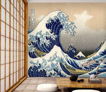 3D Waves House 085 Wallpaper AJ Wallpaper