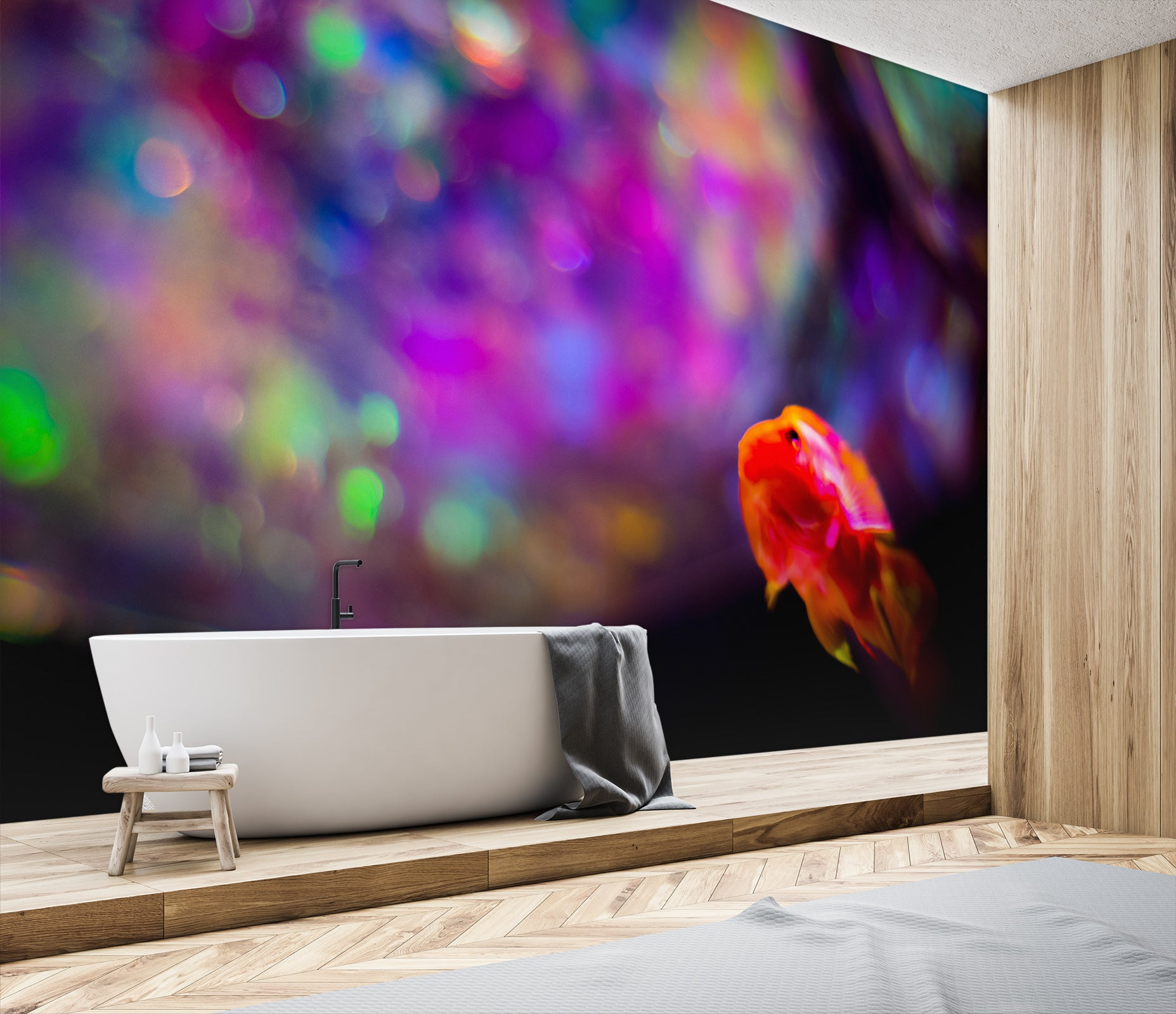 3D Colored Lights 101 Noirblanc777 Wall Mural Wall Murals