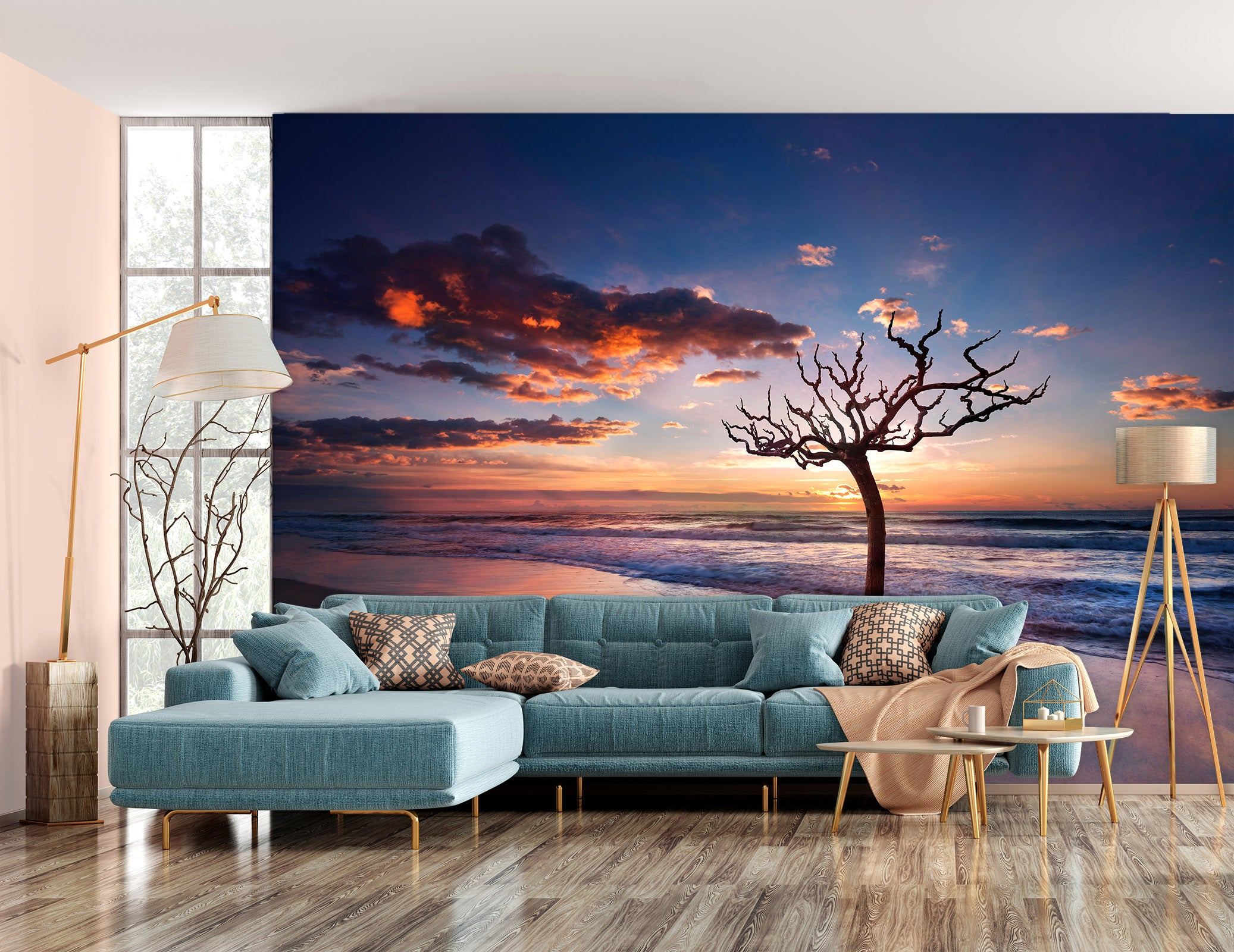 3D Lonely Tree 1446 Marco Carmassi Wall Mural Wall Murals