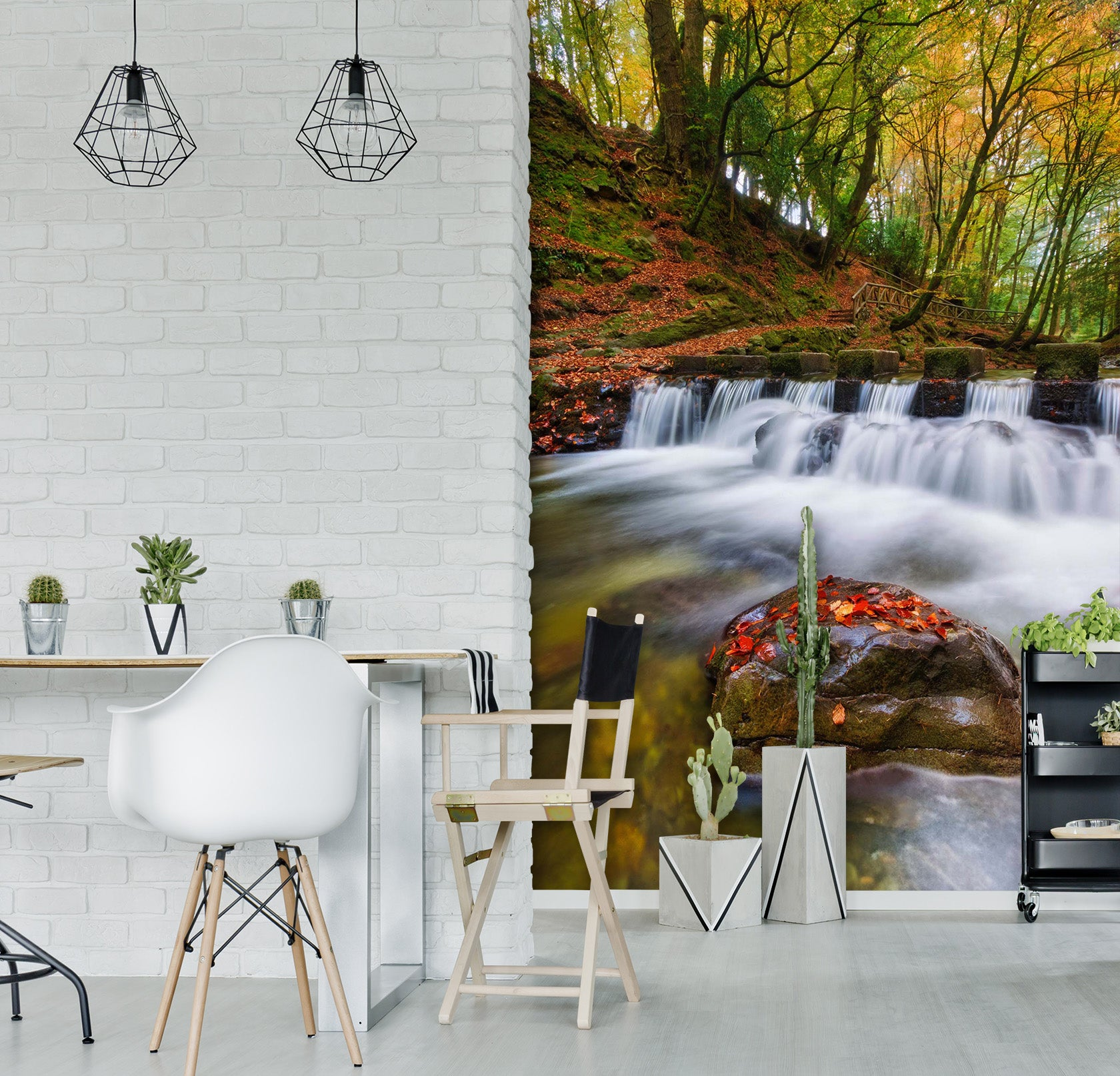 3D Forest Creek 2095 Wall Murals