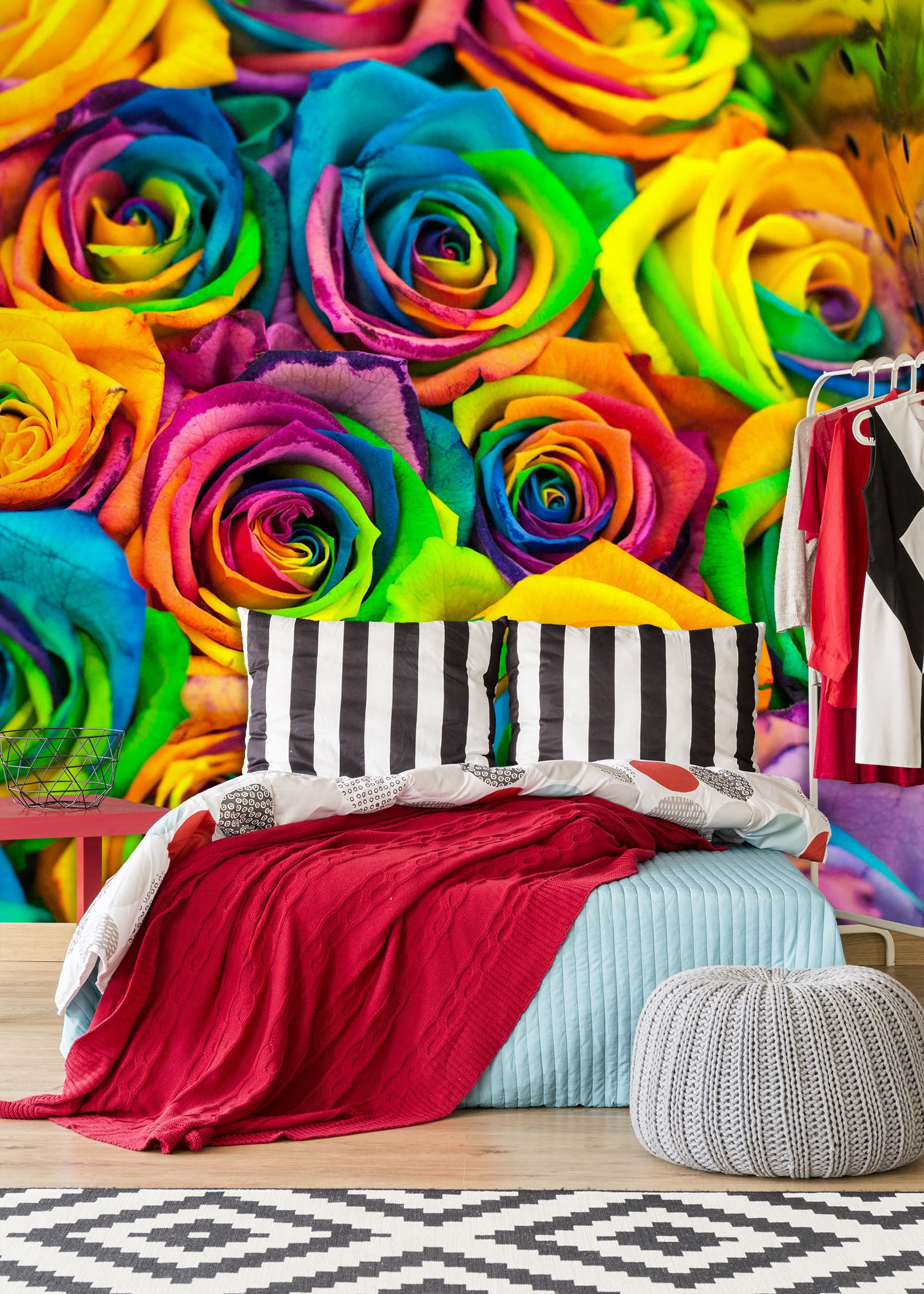 3D Color Rose 1973 Wall Murals