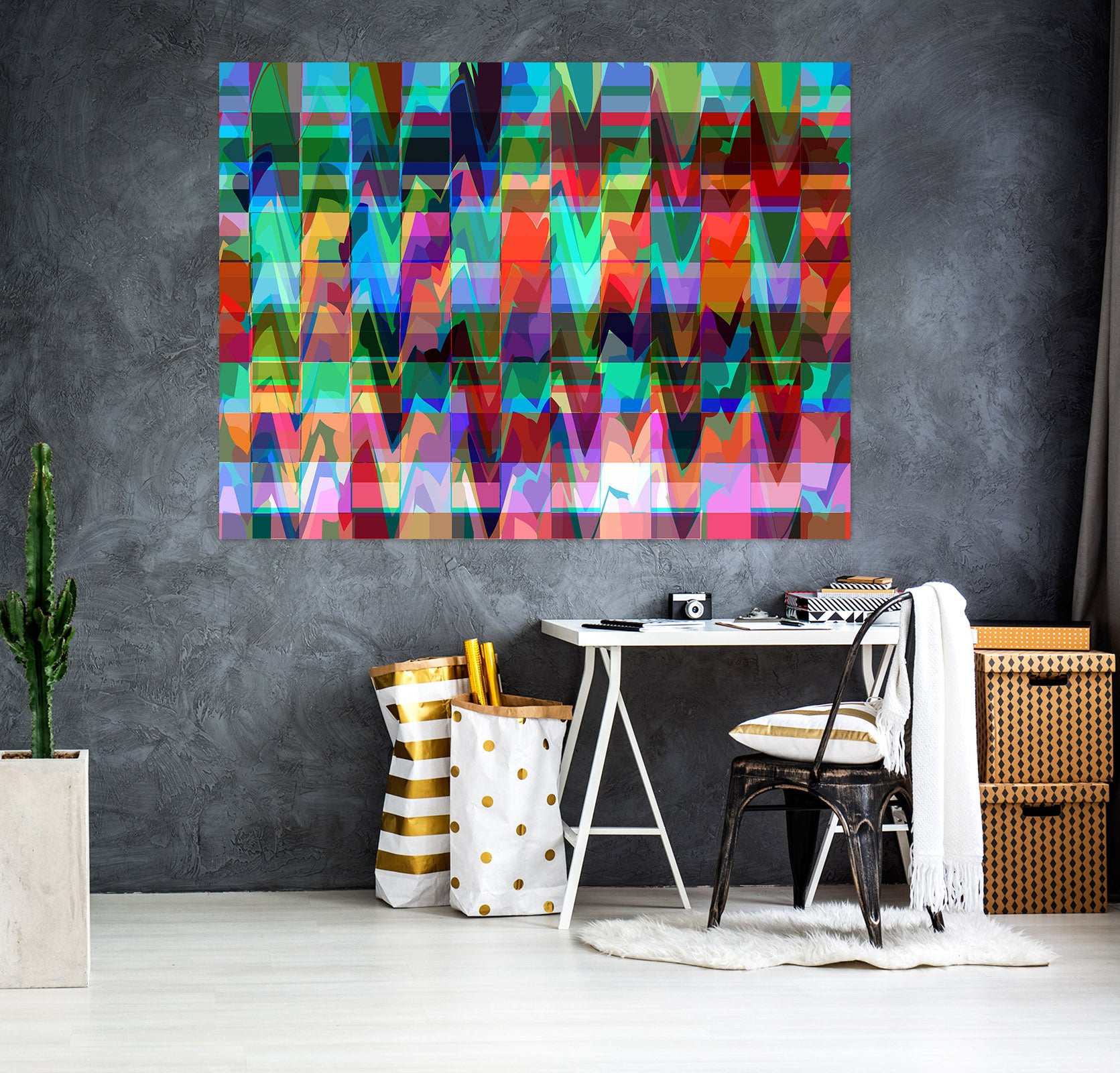 3D Color Waves 71117 Shandra Smith Wall Sticker