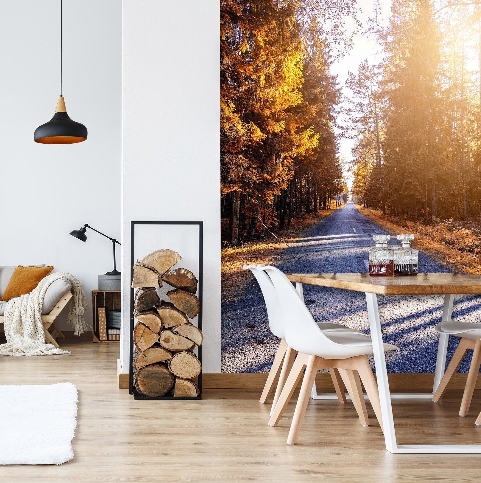3D Forest Road 2093 Wall Murals