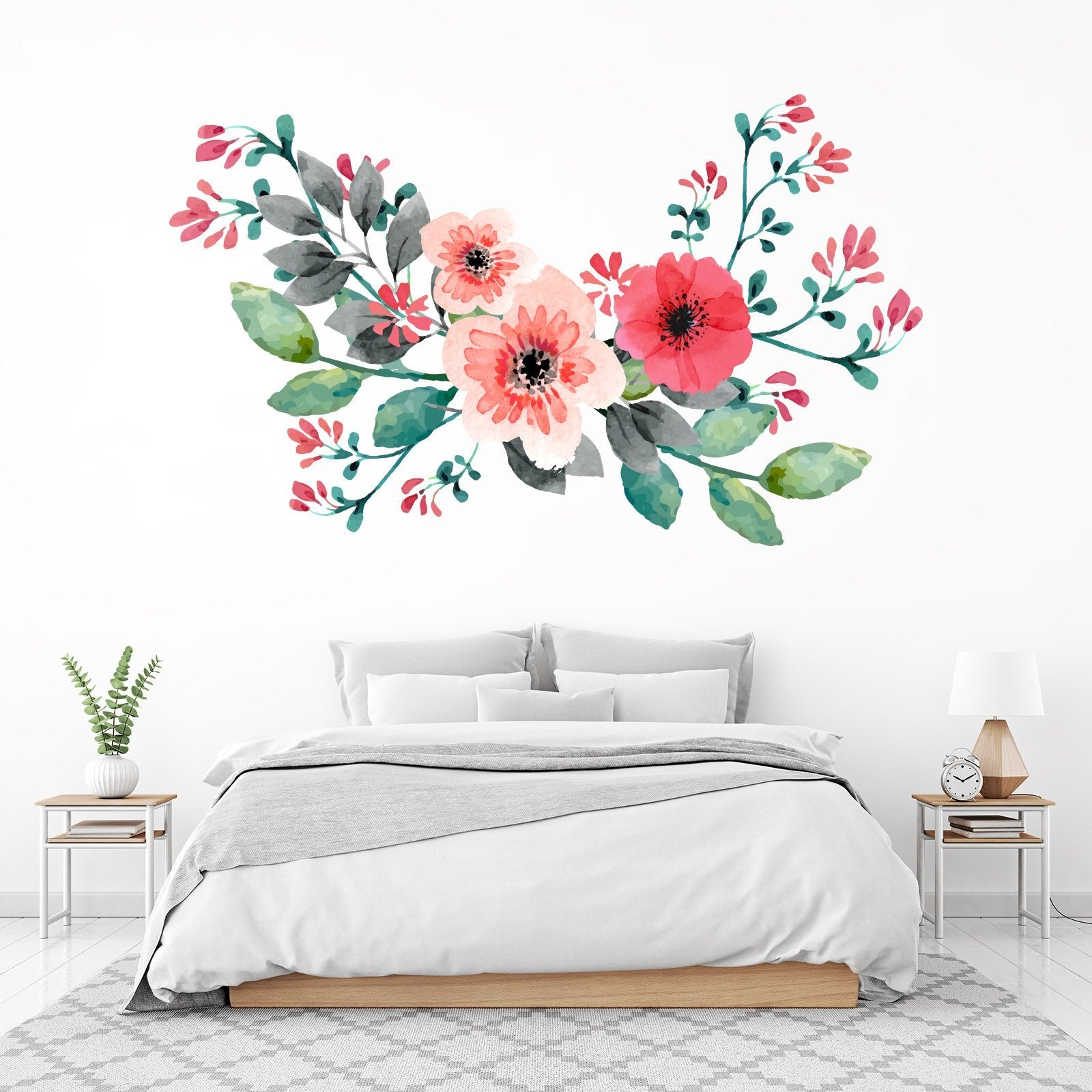 3D Safflower Leaf 084 Wall Stickers Wallpaper AJ Wallpaper