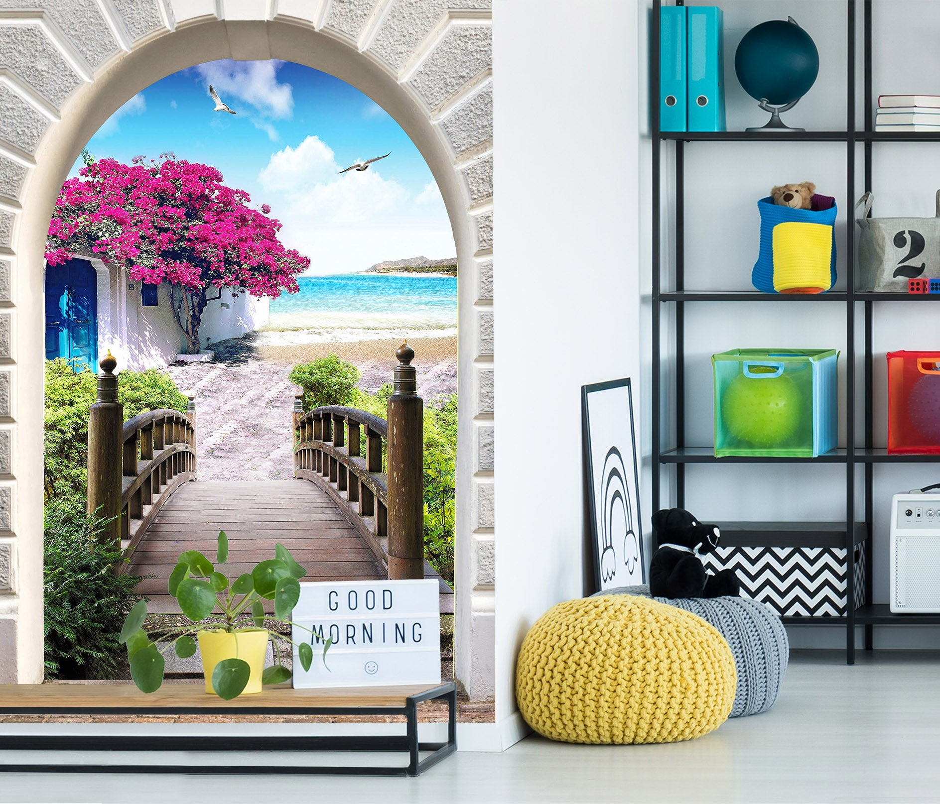 3D Boardwalk 3034 Wall Murals