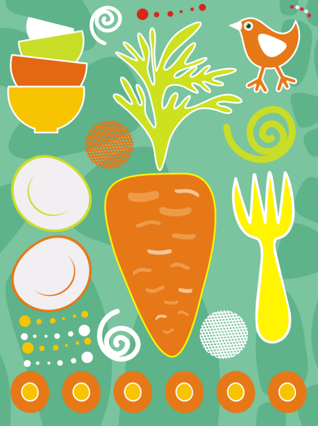 Carrot Pattern Wallpaper AJ Wallpaper