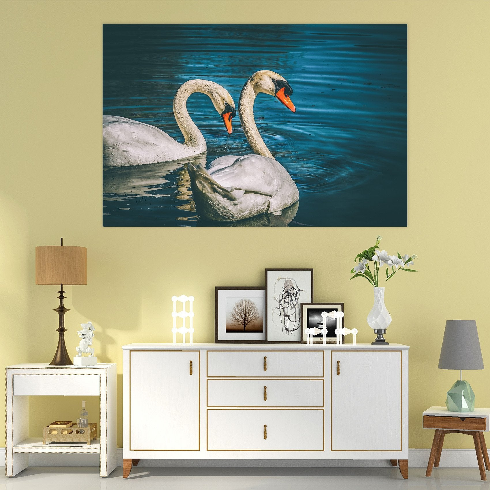 3D Swan 118 Animal Wall Stickers