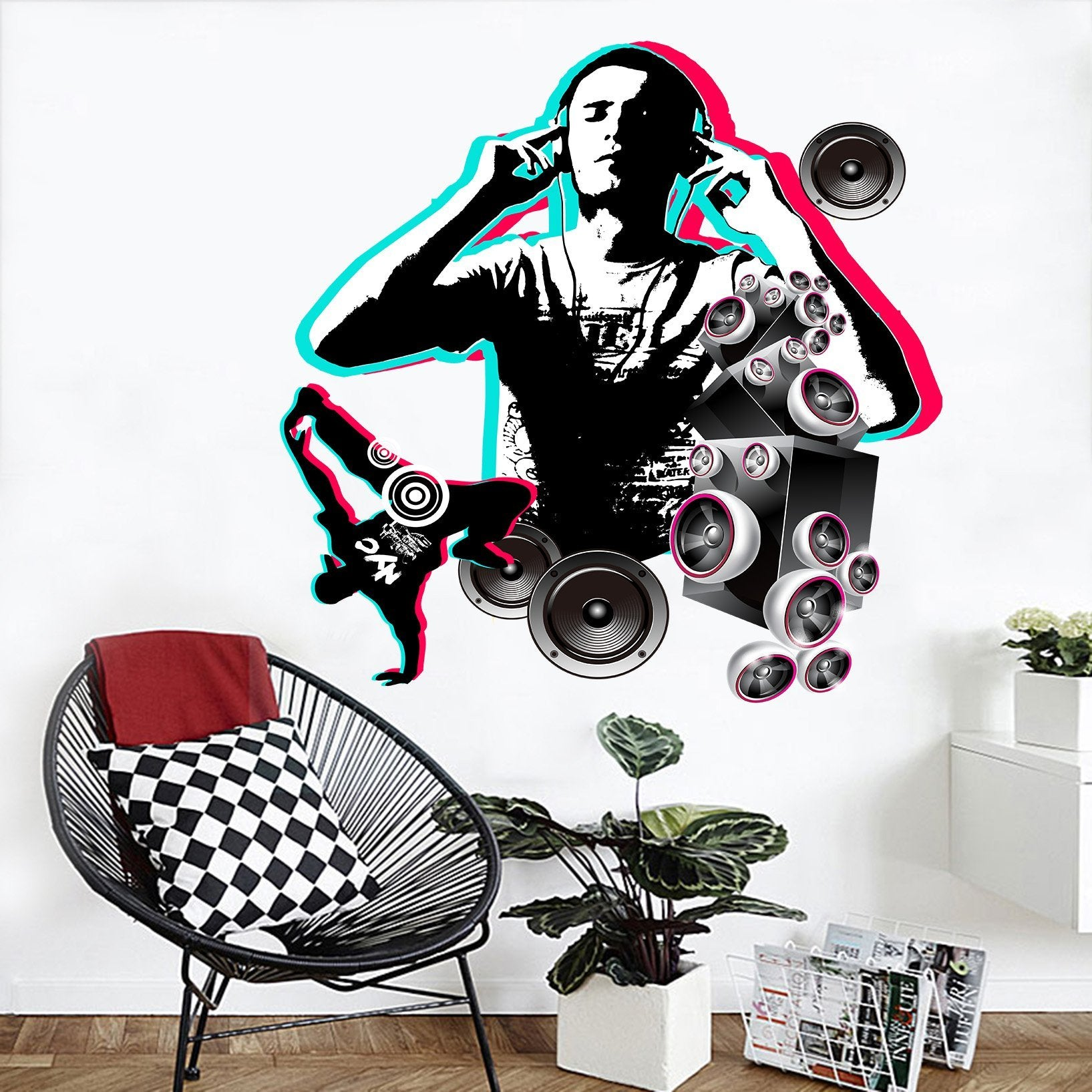 3D Acoustic Dancing 006 Wall Stickers Wallpaper AJ Wallpaper