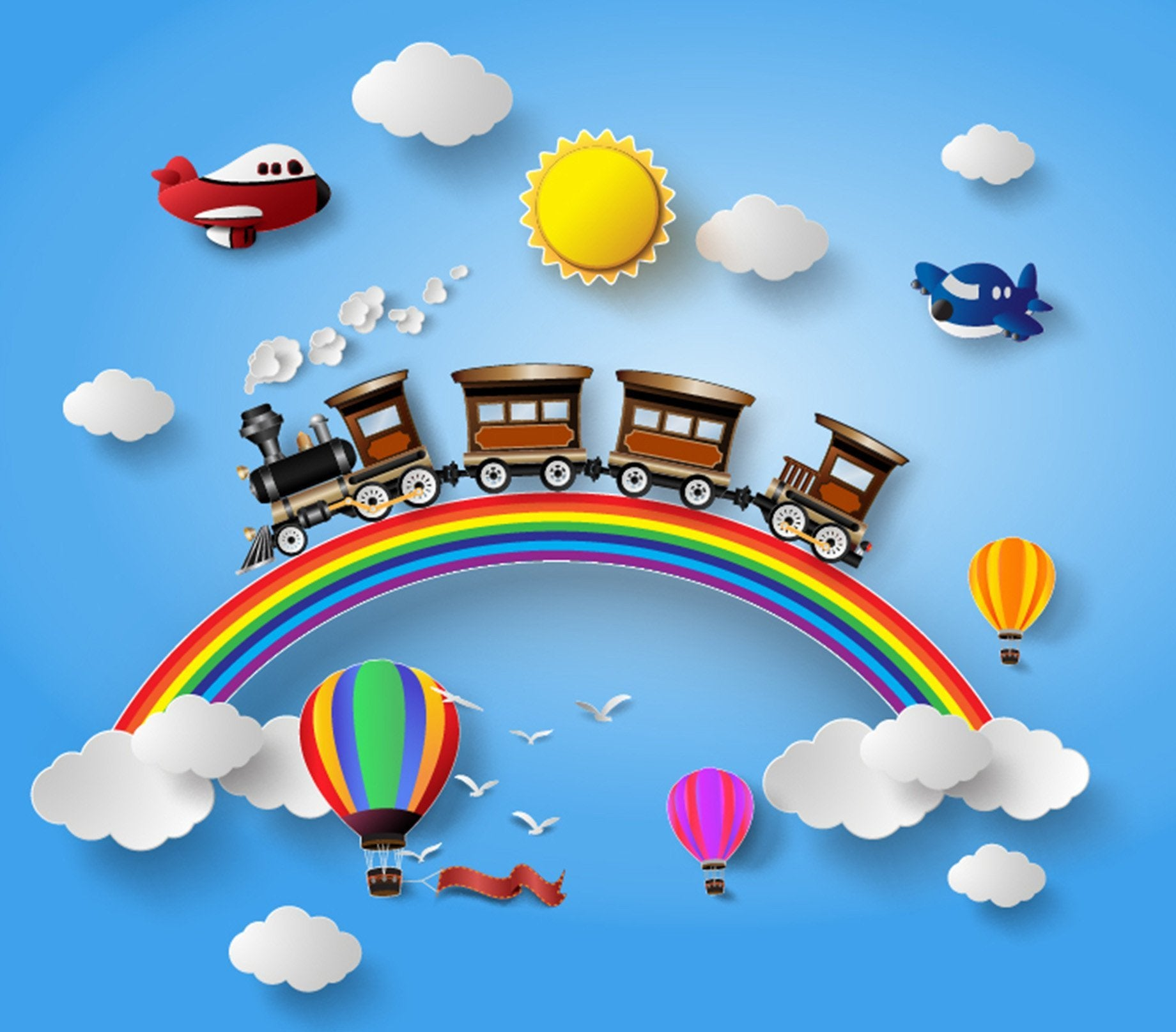 Rainbow Train Wallpaper AJ Wallpaper