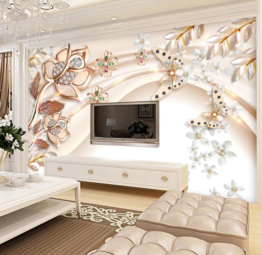 3D Diamond Flower 190 Wall Murals