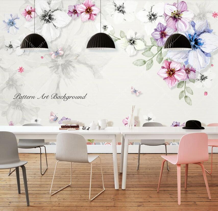 3D Colored Flowers 396 Wall Murals