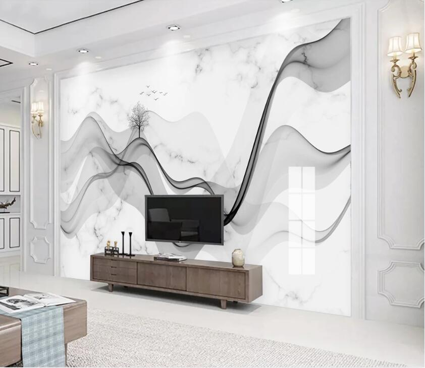 3D Marble Tree WC2677 Wall Murals