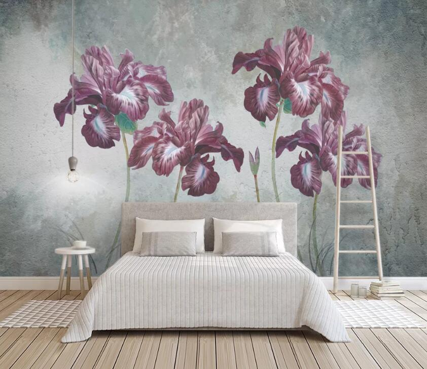3D Blooming Flower WC2666 Wall Murals