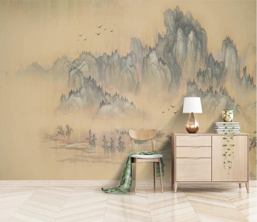 3D Bird Forest WC2665 Wall Murals