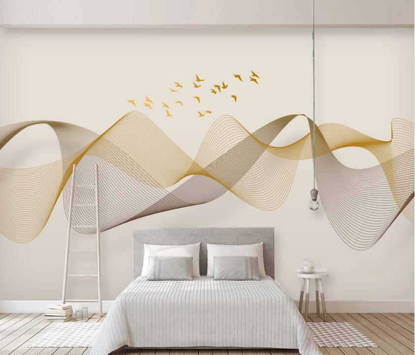 3D Geese Group WC2663 Wall Murals