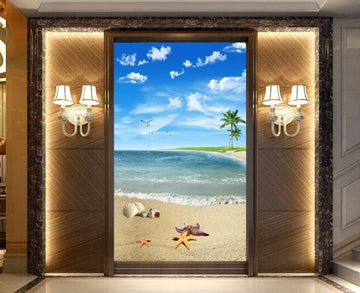 3D Clean Air And Beach 1230 Wall Murals
