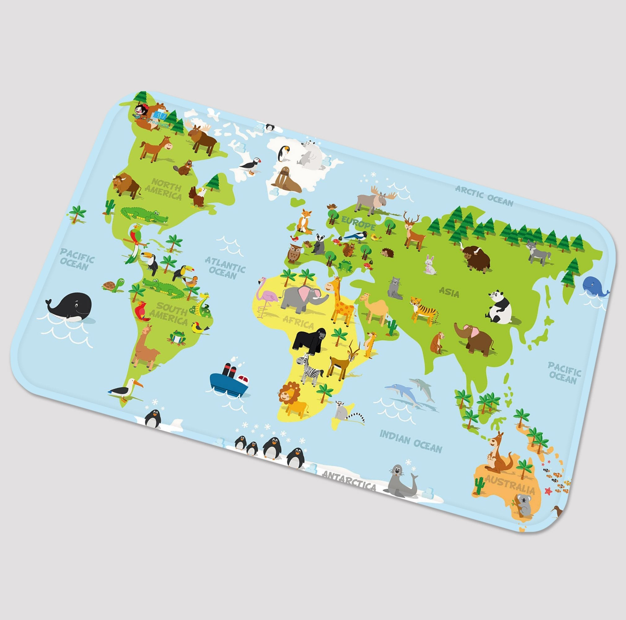 3d lovely world map 88 non slip rug mat aj wallpaper 3d lovely world map 88 non slip rug mat gumiabroncs Image collections