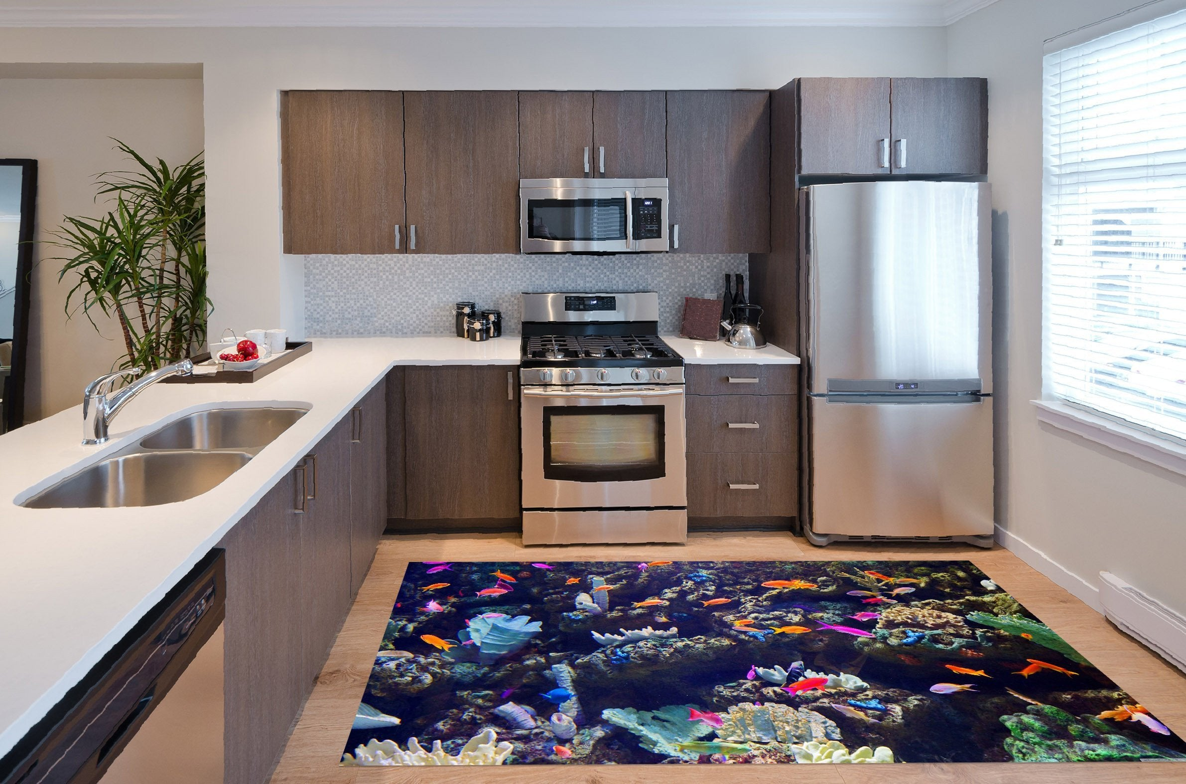 3D Sea Color Fishes 509 Kitchen Mat Floor Mural Wallpaper AJ Wallpaper