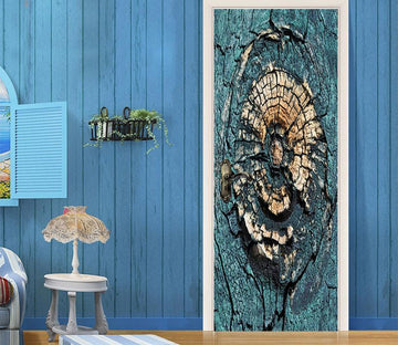 3D arboretum stump annual ring painting door mural Wallpaper AJ Wallpaper