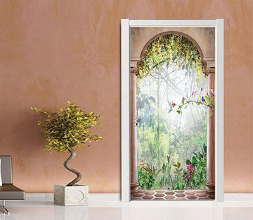 3D squid brightness plantation door mural Wallpaper AJ Wallpaper