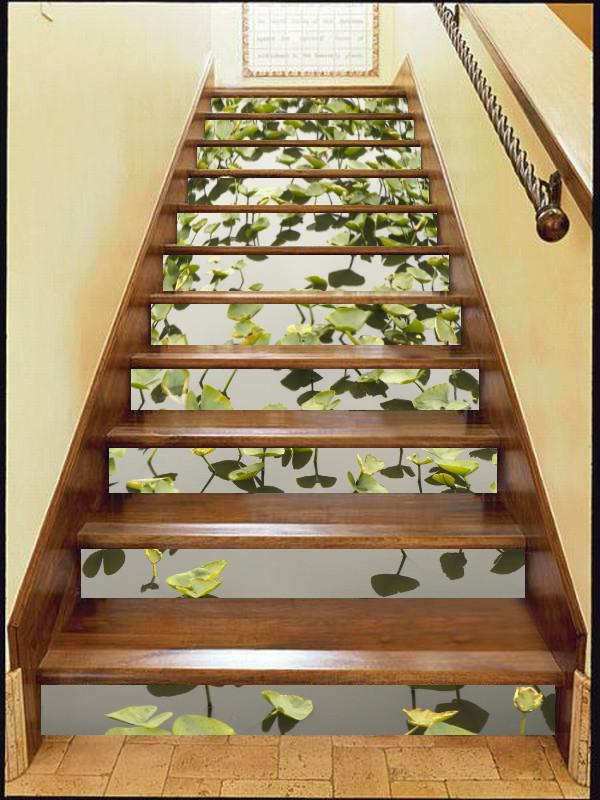 3D Aquatic Plants 10 Stair Risers Wallpaper AJ Wallpaper
