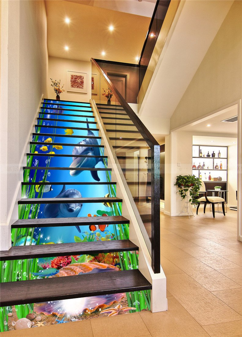 3D Charming Seabed 38 Stair Risers Wallpaper AJ Wallpaper