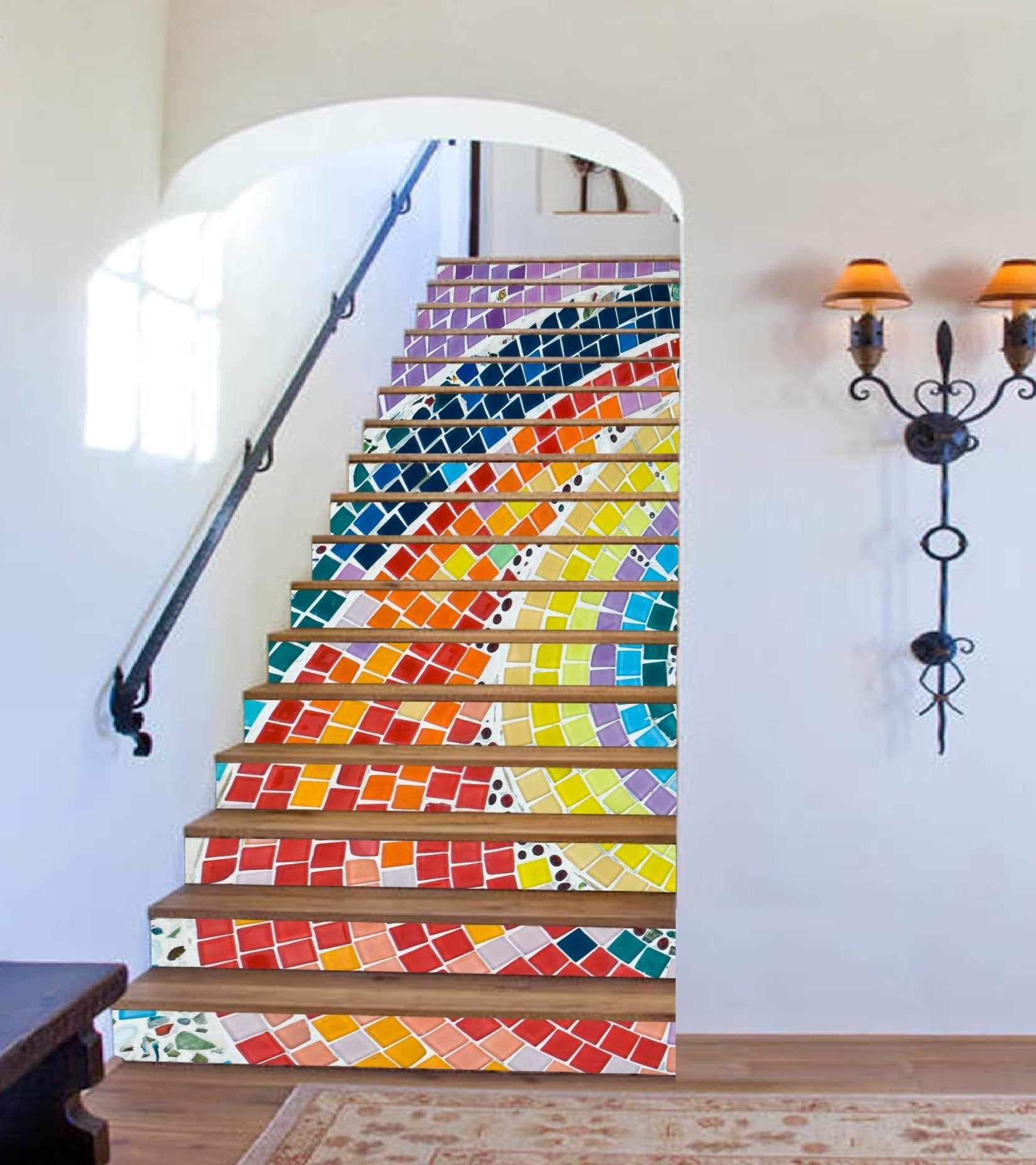 3D Rainbow 391 Stair Risers Wallpaper AJ Wallpaper