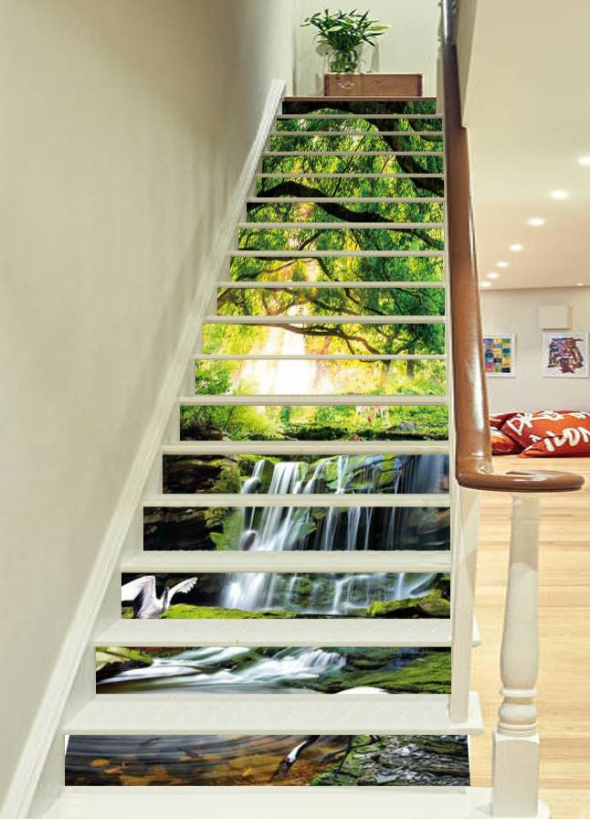 3D Animal Paradise 667 Stair Risers