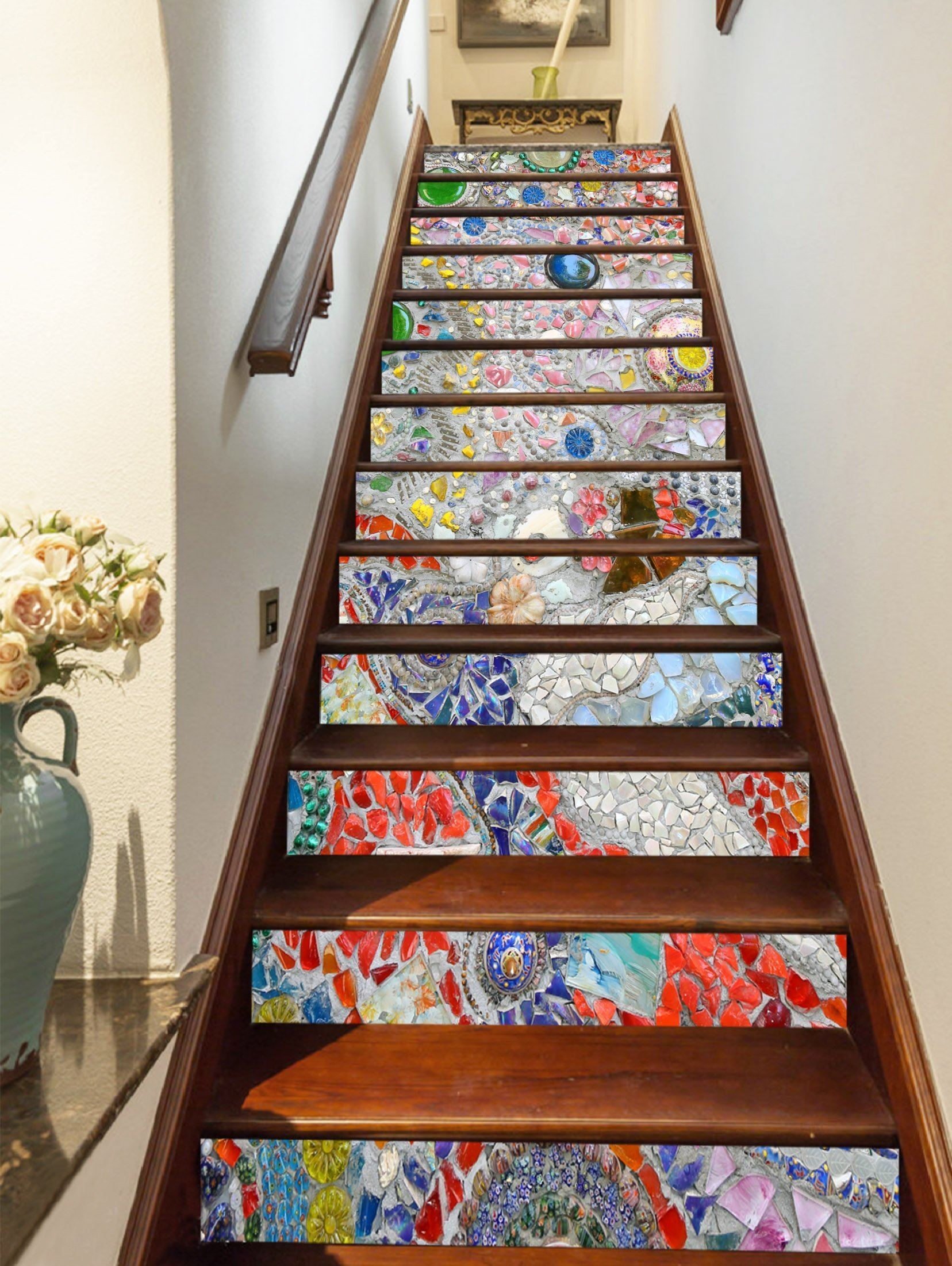 3D Gemstone 3043 Stair Risers Wallpaper AJ Wallpaper