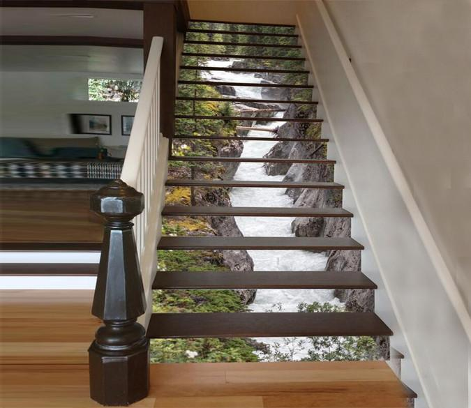 Great 3D Maligne River Stair Risers