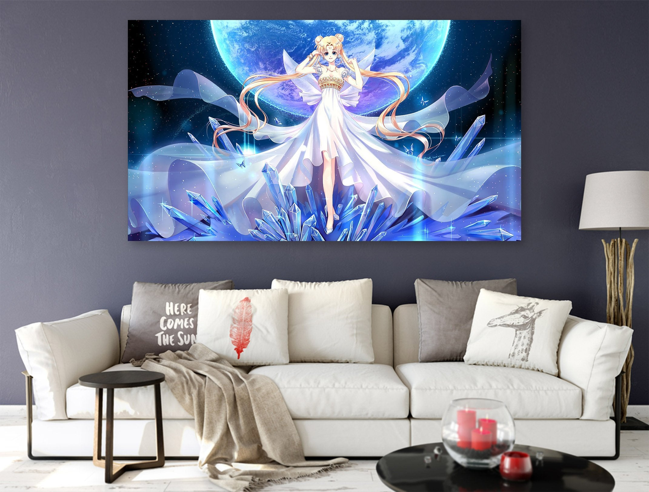 3D Sailor Moon 333 Anime Wall Stickers Wallpaper AJ Wallpaper 2