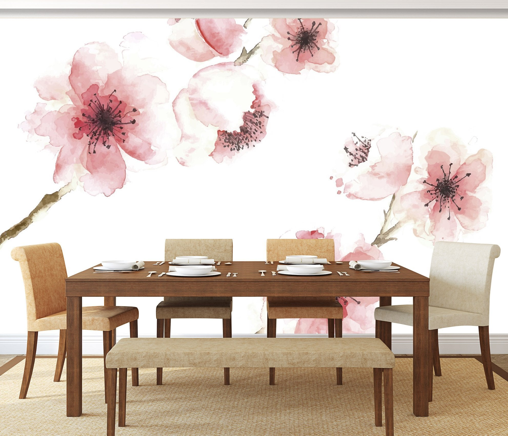 3D Plum Blossom 030 Wallpaper AJ Wallpaper