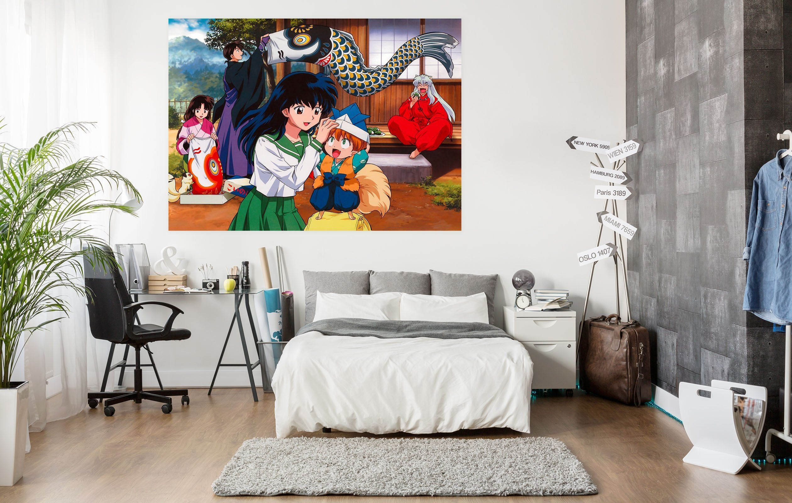 3D Inuyasha 203 Anime Wall Stickers Wallpaper AJ Wallpaper 2