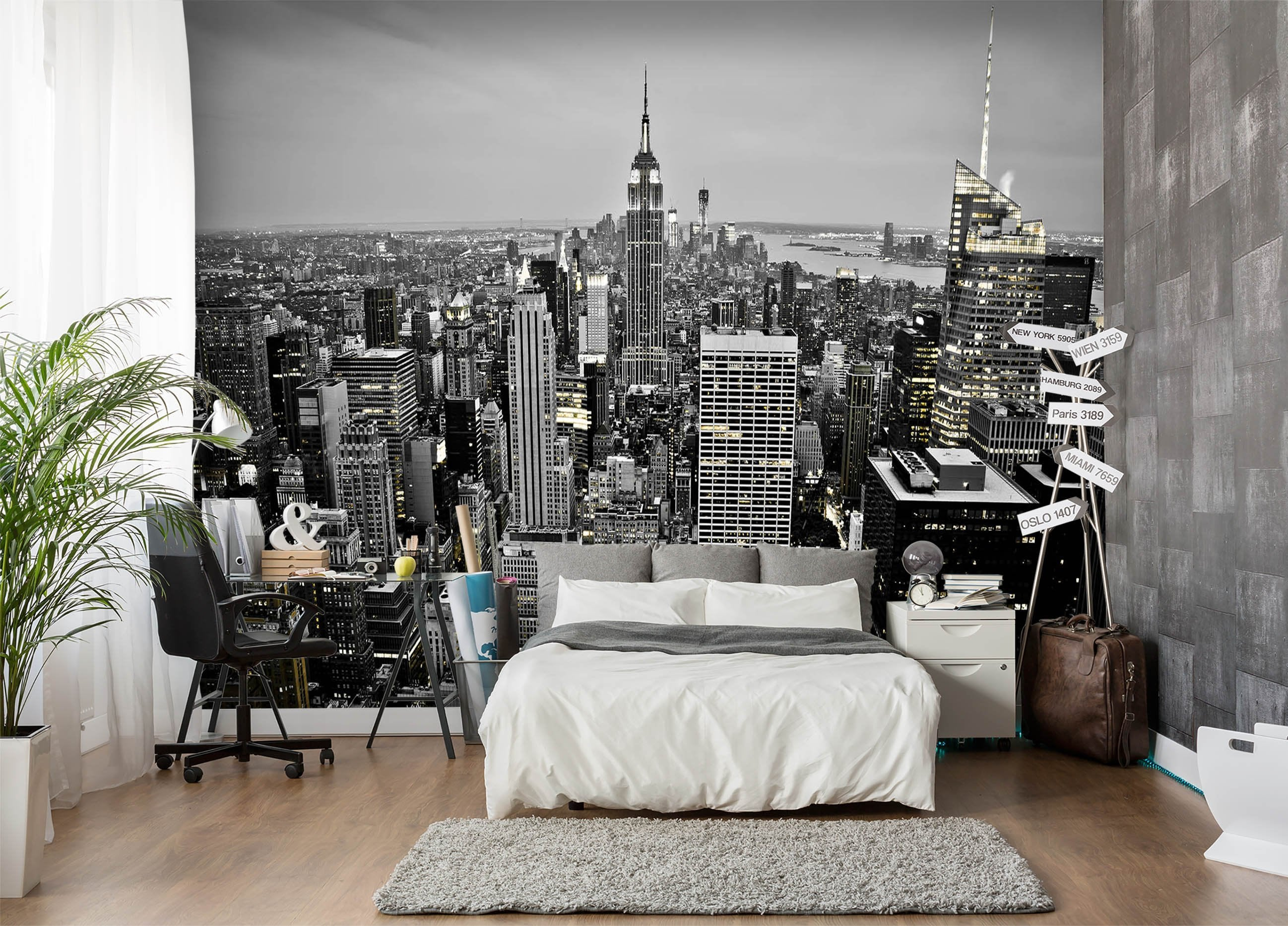 3D Black And White City 654