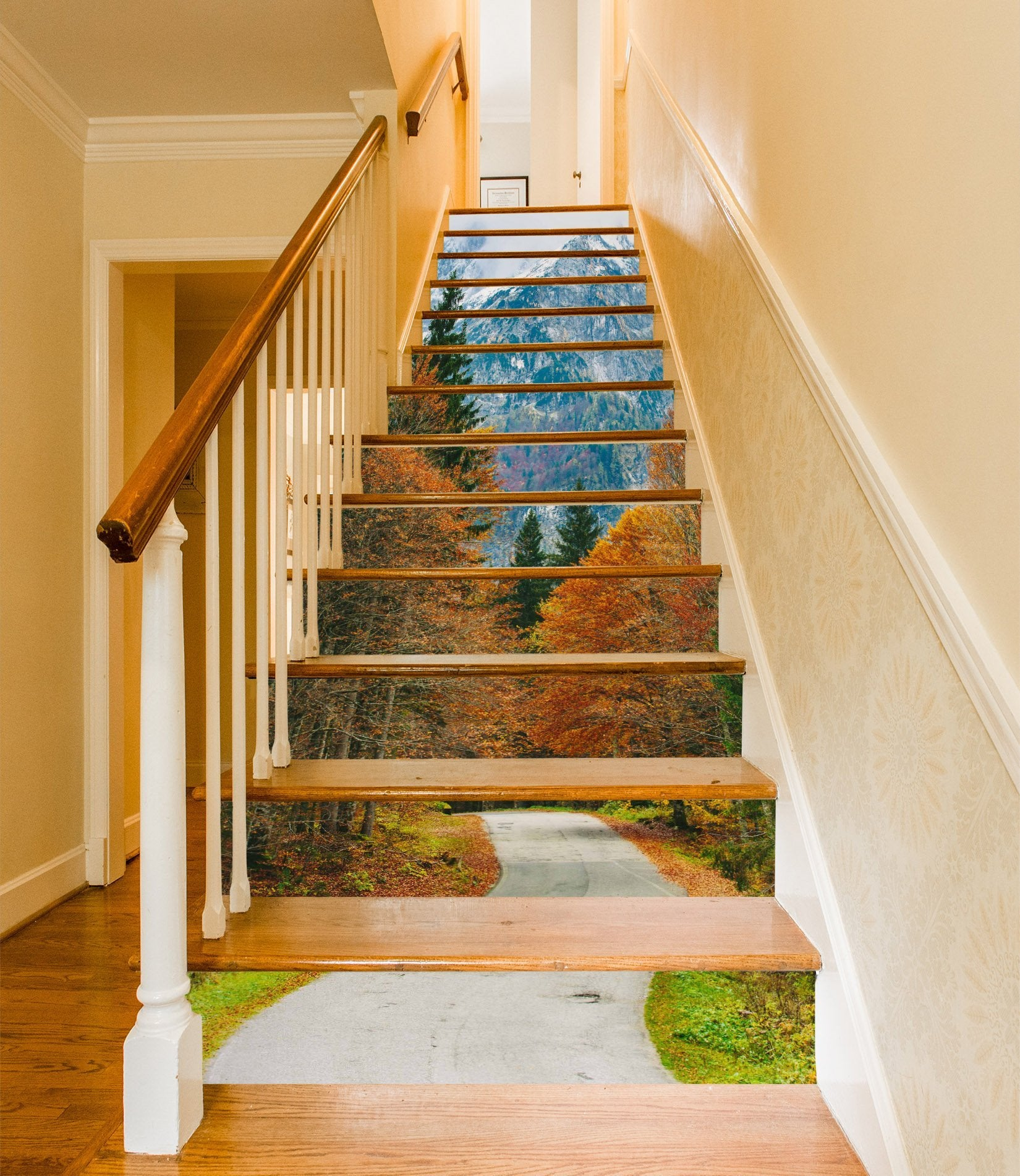 3D Natural Scenery 956 Stair Risers