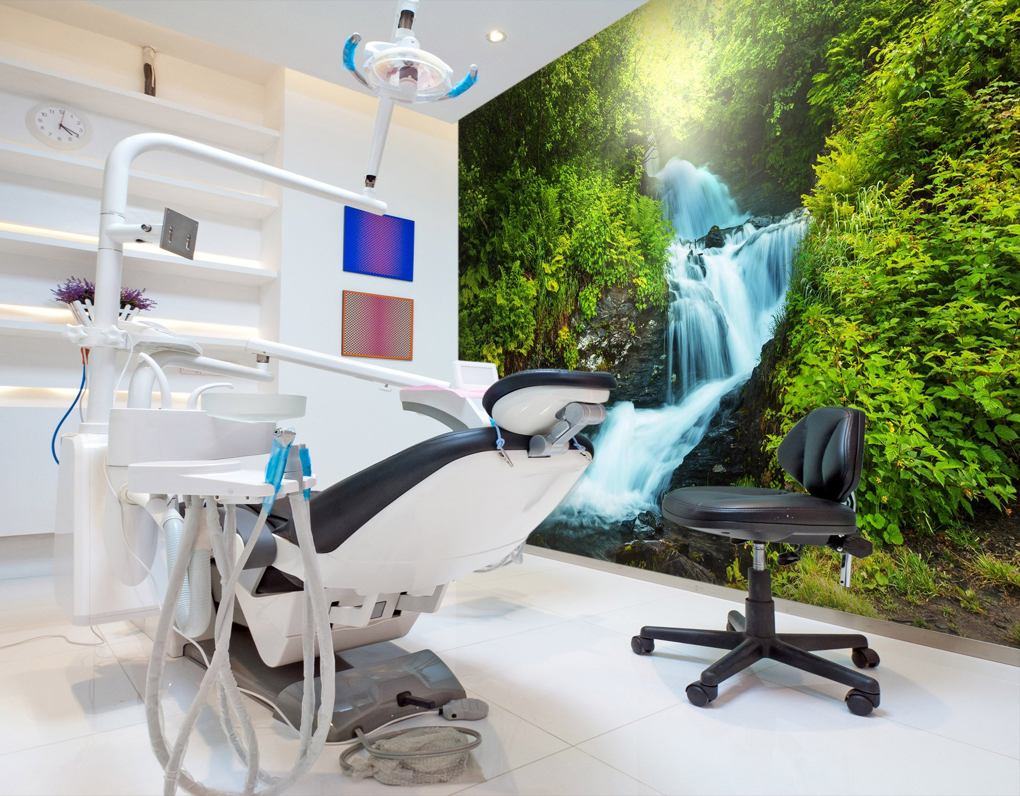 3D Small Waterfall 058 Wall Murals