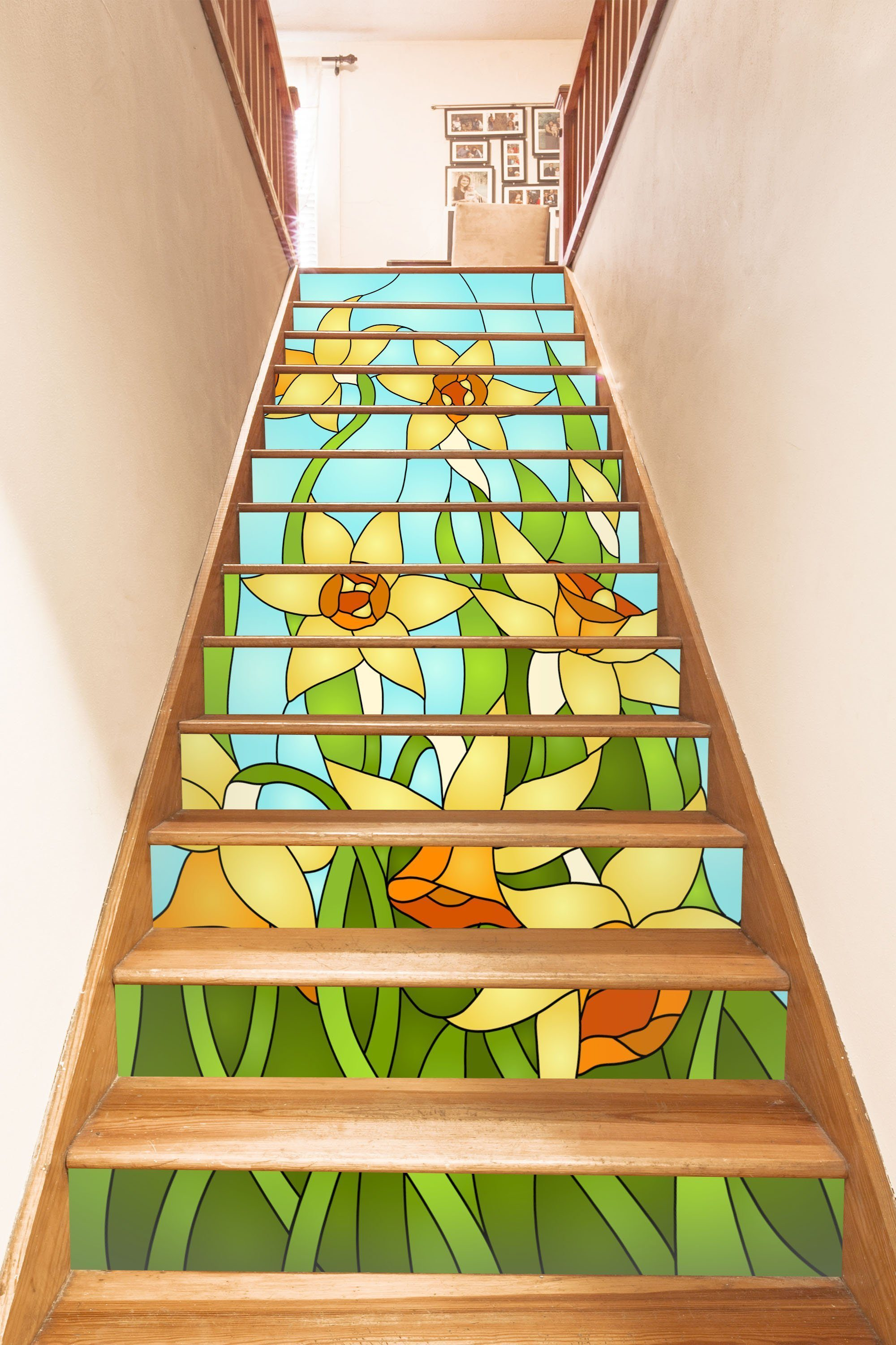 3D Flowers 648 Stair Risers Wallpaper AJ Wallpaper