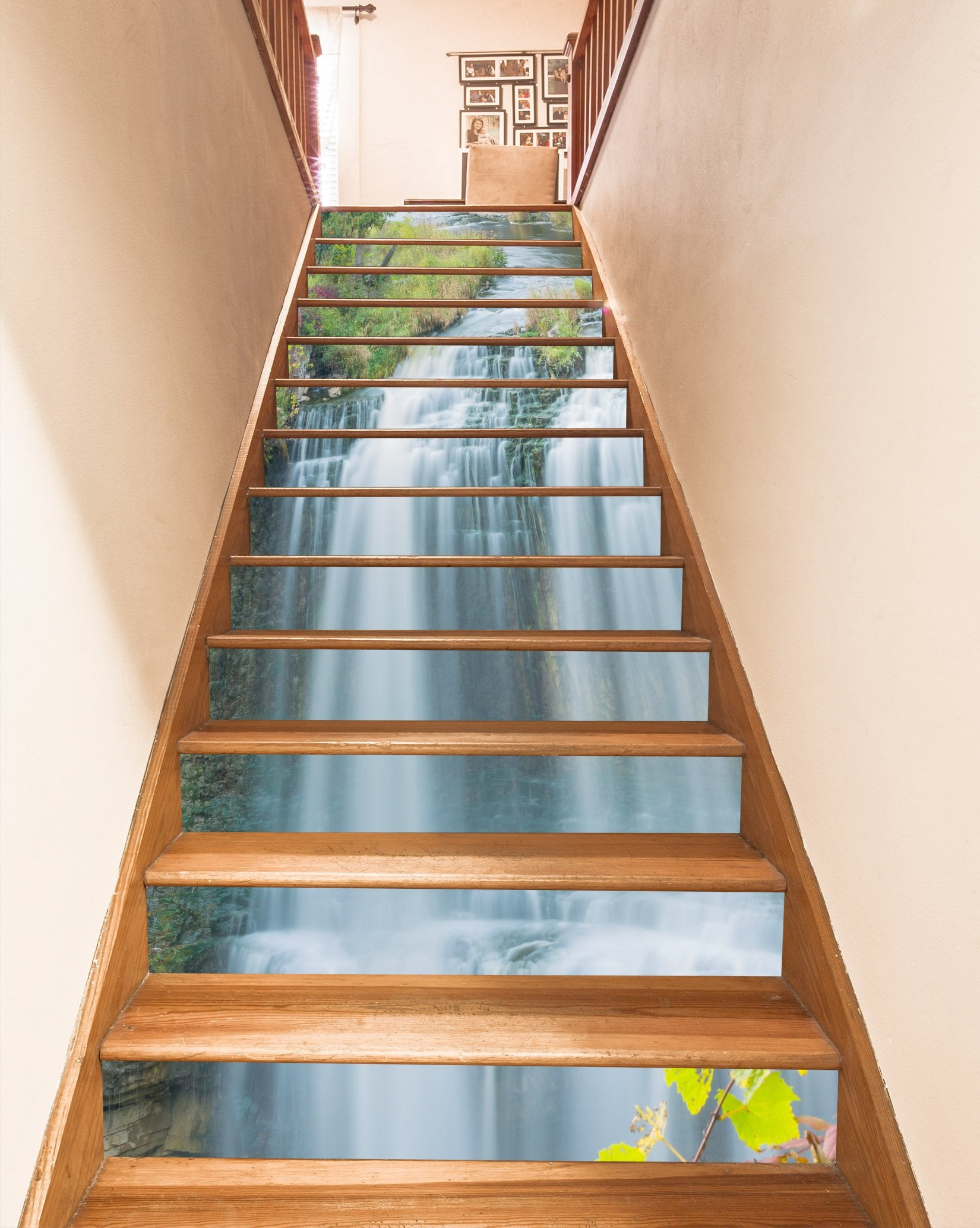3D River Waterfalls 1597 Stair Risers