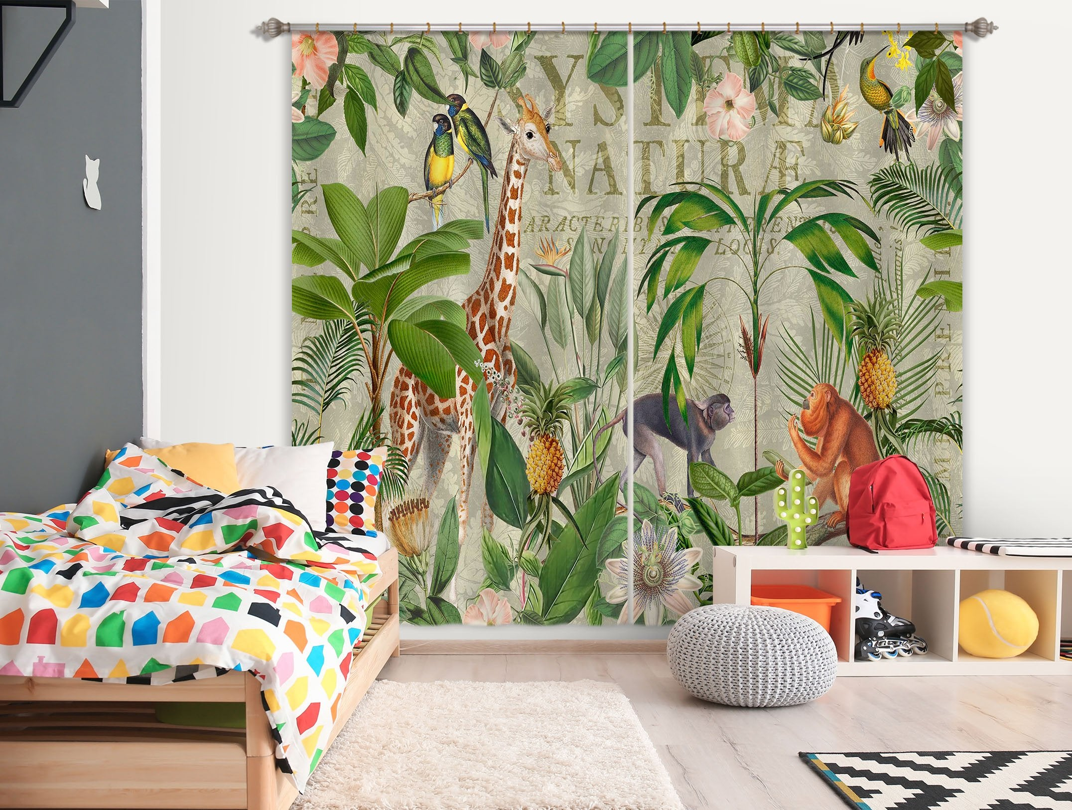 3D Animal Home 080 Andrea haase Curtain Curtains Drapes Wallpaper AJ Wallpaper