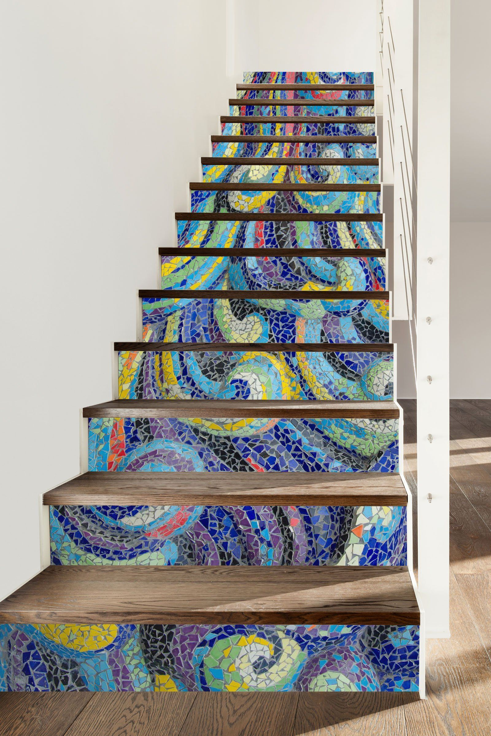 3D Art 7203 Stair Risers Wallpaper AJ Wallpaper