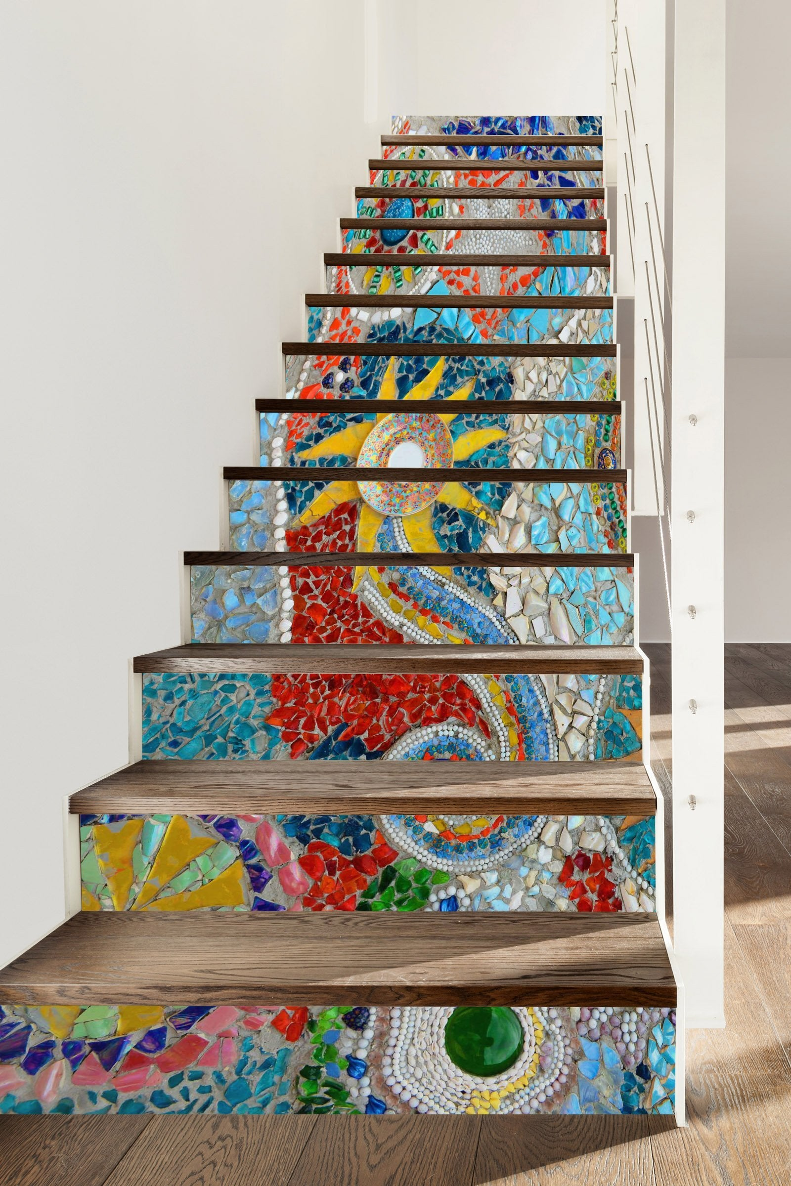 3D Gemstone 367 Stair Risers Wallpaper AJ Wallpaper