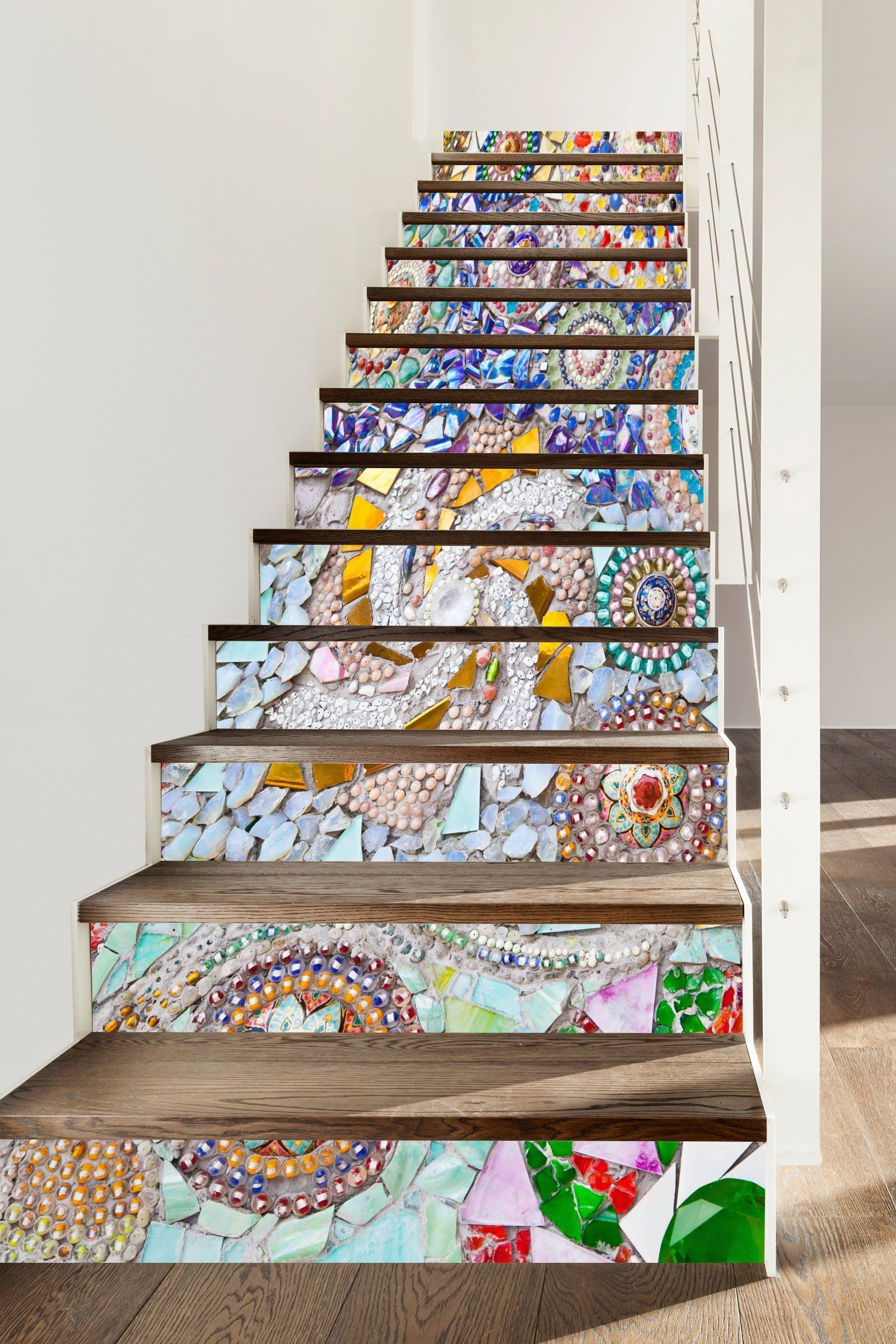 3D Gemstone 336 Stair Risers Wallpaper AJ Wallpaper