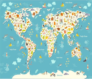 3D World Animal Map 754 Wallpaper AJ Wallpaper