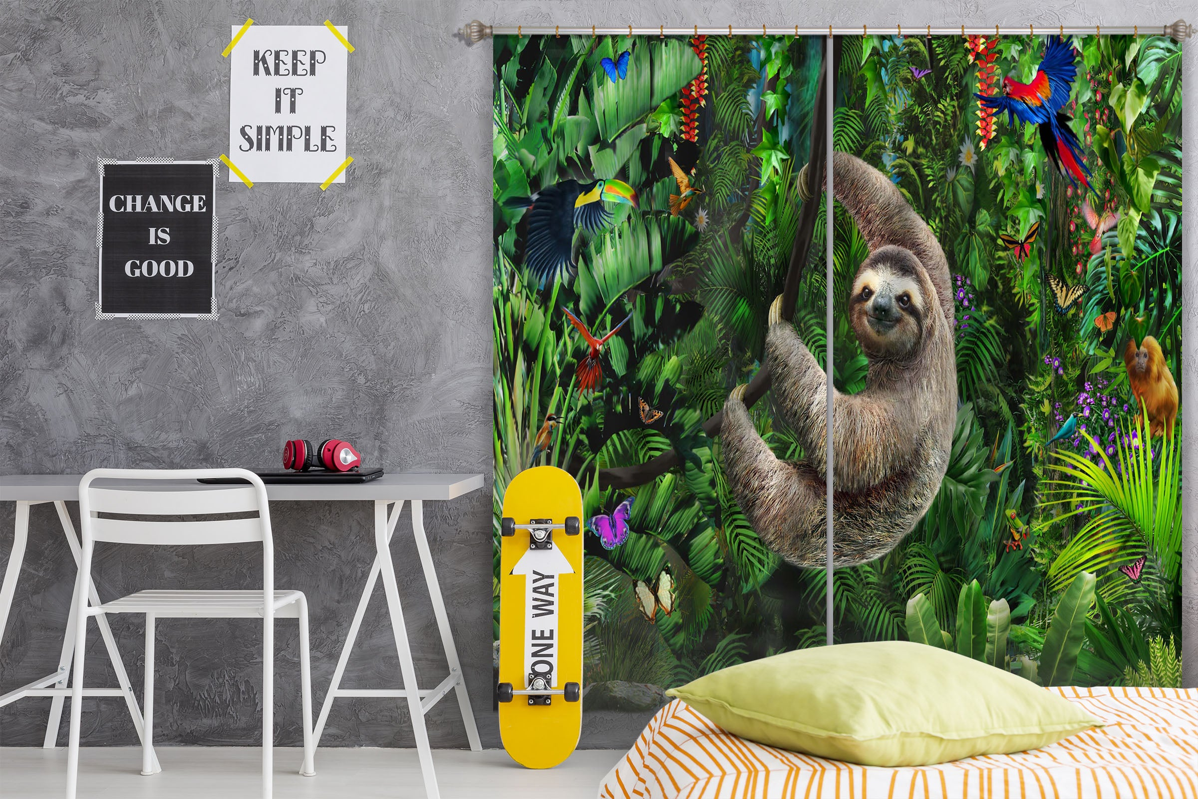 3D Koala 067 Adrian Chesterman Curtain Curtains Drapes