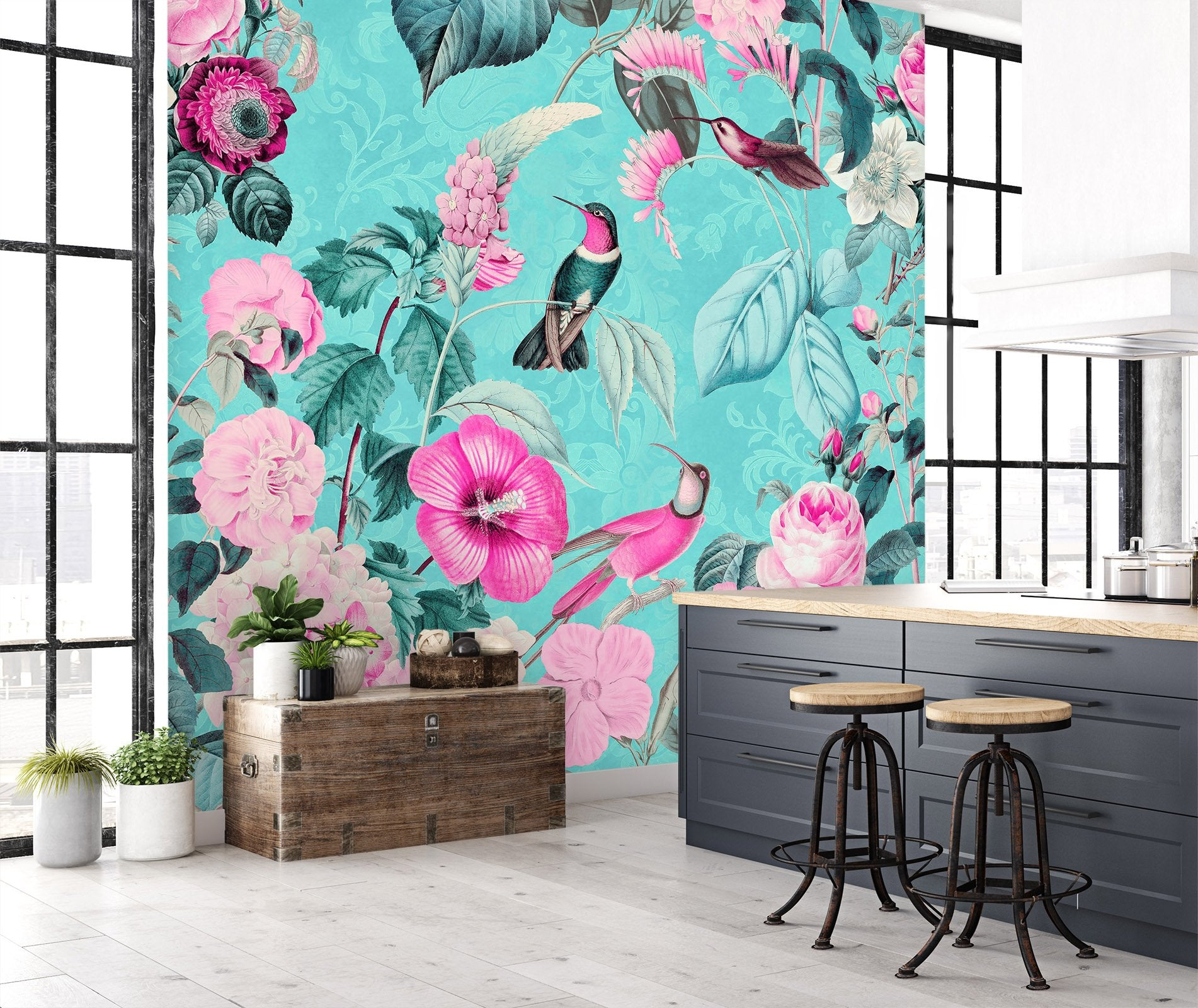 Details about  /3D Leaves Parrot I253 Wallpaper Mural Sefl-adhesive Removable Andrea haase Honey